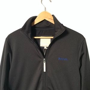 Bench Black Sweater Full Zip Thru Funnel